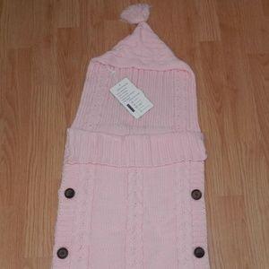 NEW XMWEALTHY Pink Knit Sweater Sleeper Blanket